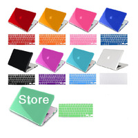 FREE SHIPPING New Laptop Rubberized Hard Cover Case + Keyboard Skin For Mac Book Pro 13.3""