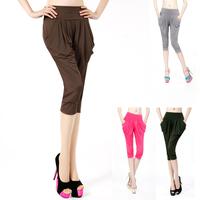 2014 new arrival candy color fashion harem pants loose leggings ice silk hot-selling summer harem leggings pants free shipping