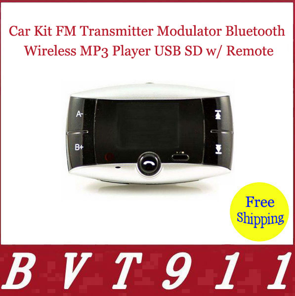 2015 Super Selling! 100% Original Car Kit FM Transmitter Modulator Bluetooth Wireless MP3 Player USB SD w/ Remote Free Shipping(China (Mainland))