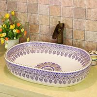 Square basin wash basin counter basin wash basin blue