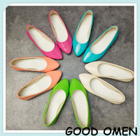 Free shipping!Summer new arrival 2014 candy color single shoes solid color multicolour women's flats heel female shoes flat
