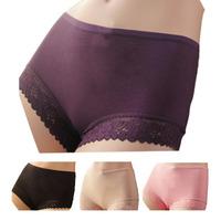High Quality Women Sexy Briefs Lady Short Lace Bamboo Underpants Bikini Underwear Lingerie Panties