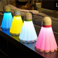 Badminton usb charge small table lamp led energy saving lamp bed-lighting small night light k2234