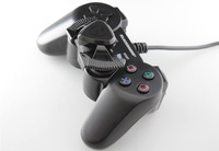 Blackhorns Vibration Gamepad Excellent Manipulation Car Racing Game Steering Wheel Joystick for PS2- Retail Packaging