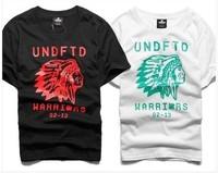 2014 Summer 100% Cotton tshirt camisas pictures. Street round collar short sleeve men T-shirt