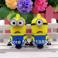 3pcs/lot Free shipping New Pendrive Minions USB 2.0 Flash Drive32GB 16GB 8GB Despicable Me 2 Pen drive 64g Memory stick U Disk