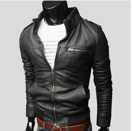 Новый мужской костюм ПУ кожаные куртка