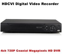 Free Shipping 4 Channels 720P HDCVI DVR, 1ch Auido, 1ch HDMI output, 1ch PTZ