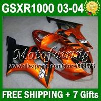 Orange black Fairing For SUZUKI GSX-R1000 K3 GSX R1000 03 04 K3 2003 2004 GSXR 1000 NEW 665 Hot GSXR1000 K3 Bodywork+7gifts