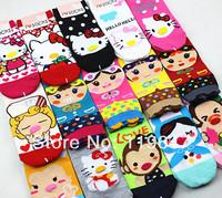 Women's Clothing  Girl's Casual Character Cute Cotton socks QQ160
