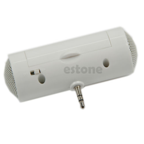 1PC Portable 3.5mm Mini Stereo Speaker For iPhone 5 4 4S Samsung iPod MP3 MP4 Laptop(China (Mainland))