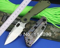Free shipping 100% WILD BOAR brand STRIDER SNG style D2 High Speed steel blade Titanium alloy +G10 handle Folding knife