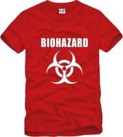 Male Women lovers100% biohazard logo mark of cotton short-sleeve T-shirt Men o-neck t-shirt / 6 color S-XXXL