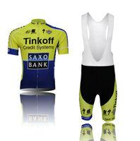 2014 New saxo bank Cycling Clothing Jersey Bicycle Bike Wear & Bib /Shorts Sets