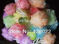 Free Shipping 25-30grams colorful bath ball bath companion showers / bath flower / bath sponge mesh sponge color