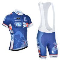 NEW! 2014 FDJ Team cycling jersey/ cycling clothing/ cycling wear short (bib) suit-FDJ-1D Free Shipping