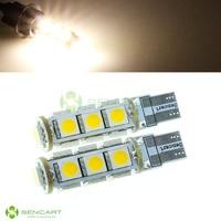T10 147 152 158 159 161 168 184 192 193 194  2.6W 3500K 182lm 13-SMD 5050 LED Warm White Light Decoration Lamps DC 12V