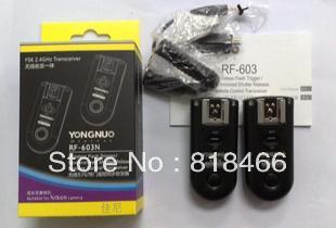 Yongnuo RF-603 N1, RF603 N1 RF 603 Flash Trigger 2 Transceivers for NIKON D800 D3X D3 D2X D2H D1H D1X D700 D300 D200 D100(China (Mainland))