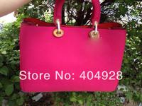2014 hot pink  original purse  Luxury  fashion women's bag, shoulder bags  semi-circular  genuine leather
