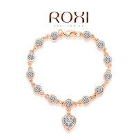 2060001775 Wholesale ROXI Fashion Accessories Jewelry Hearts and Arrows Full CZ Diamond Austria Crystal Heart Bracelet for Women