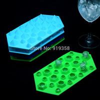 2014 New Diamond Mold Fondant Cake Decoration Mold Ice Cube Tray 27 Cavities Crystal Silicone Ice Mold Candy Mold