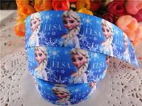"2014 new arrival 1"" (25mm) frozen princess elsa printed grosgrain ribbon cartoon ribbons cloth tape 10 yards WQ2014040418"