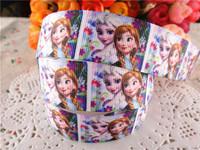 "2014 new arrival 1"" (25mm) frozen princess printed grosgrain ribbon cartoon ribbons cloth tape 10 yards WQ2014040419"