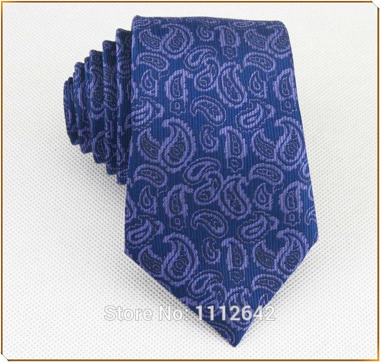 (1 pieces/lot) Boys narrow Tie/purple blue flower pattern design/man's fashion leisure 6cm necktie free shipping(China (Mainland))