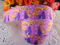 "2014 new arrival 1"" (25mm) princess Rapunzel printed grosgrain ribbon cartoon ribbons cloth tape 10 yards WQ2014040416"