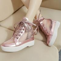 Новая платформа кроссовки повседневные Холст плоской обуви для женщин, 5 цветов падение Доставка