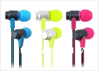 10pcs/lot Super Base In-ear Headphone Noise isolating Earphones 3.5MM Earbud, music headphone