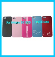 Free Shipping Metal Back Shell Case For iPhone 5 5S Sport Car Matte Aluminum Phone Cover Cases Min Order 1PC