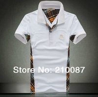 summer 2014 new style European version of cultivating cotton MAN polo shirt casual color edge