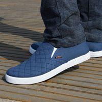 Men low heel cotton shoes breathable casual flats shoes