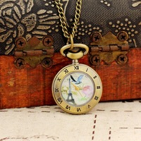 Pocket Watch Anime Small Necklace Clock Women Mini Gifts Pendant Watches Free Shipping Wholesale Dropship