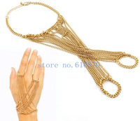2014 New Spring Summer Fashion Jewelry Bracelet  Slave Women Lady Link Fingers Hand Chain Harness