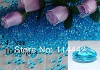 Free Shipping ! 10000 pcs / lot 4.5mm  Aqua 1/3 carat Acrylic Diamond Table Scatter wedding confetti