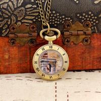 Free Shipping Wholesale Dropship 2013 Woman Mini Gifts Bronze Vintage Hollow Cut Roma Fashion Quartz Pocket Watch With Chain