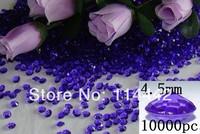 Free Shipping ! 10000 pcs / lot 4.5mm  Lilac 1/3 carat Acrylic Diamond Table Scatter wedding confetti