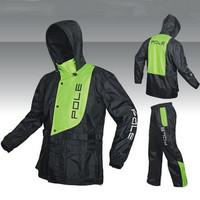 Fashion Outdoor sports Wind-resistant jacket men waterproof rain coat suit.High Quality wear-resisting motorcycle raincoat