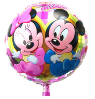 10PCS NEW 18inch Cartoon Pink Mickey Mouse Foil Balloons Wedding Birthday Party Decoration Helium Balloon Child's Holiday Gifts