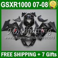 7gifts Gloss Fairing For SUZUKI GSX-R1000 K7 07 08 GSX R1000 GSXR 1000 ALL Black NEW K7 07-08 820 GSXR1000 2007 2008 Body