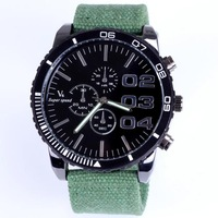 Brand watch men tag Japan movement quartz analog fabric band wristwatches 4 colors  big dial wholesale free shipping