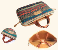Kinmac New Bohemian  Canvas Laptop PC Case Sleeve Soft Notebook Bag Pouch 11 12 13 14 15  inch