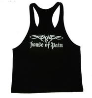 Hot-selling professional fitness vest tight fitness vest tank sports male 100% cotton undershirt SIZE S-XXL