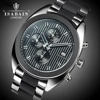 Luxury hours sports wristwatch men waterproof Quartz watches dress wristwatch casual Date man full steel 6 needle stop watch
