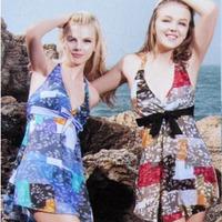 Swimwear swimwear steel tulle dress bikini piece set female swimwear beach 1126