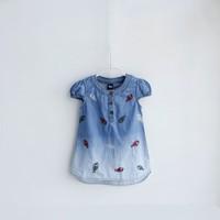 NEW! Wholesale Summer Children's T-shirts Boys Girls Baby's Short Sleeve Tops for Kids Clothing Denim Blouse