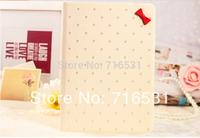 High quality Luxurious Korean pearl diamond butterfly cut slim Leather case for IPad 2/3/4/5 Air