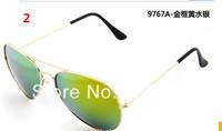 Hot Sale 2014 New Fashion coating sunglass Frog Mirror Sunglasse Arrival Men Women Loved Unisex Sunglasses 50pcs/lot supply